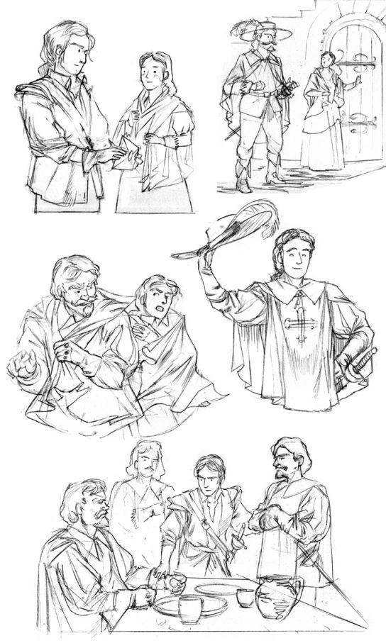 Croquis D'Artagnan 1