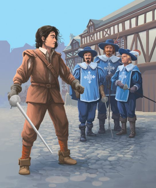 D'Artagnan , apprenti mousquetaire.