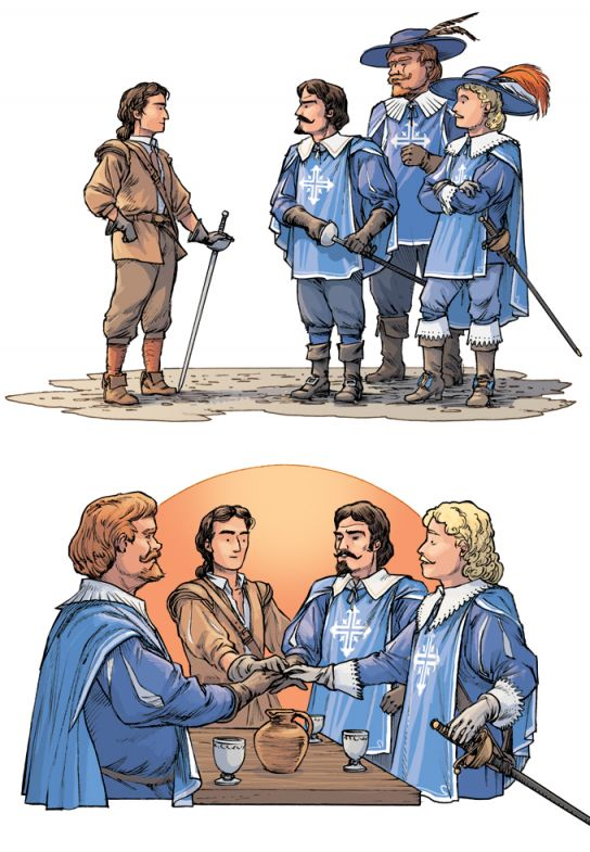 D'Artagnan et les trois mousquetaires.