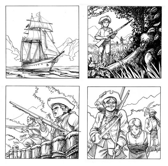 Vignettes Ile au Tresor