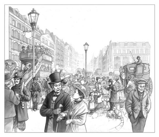 Rue Londres 1900